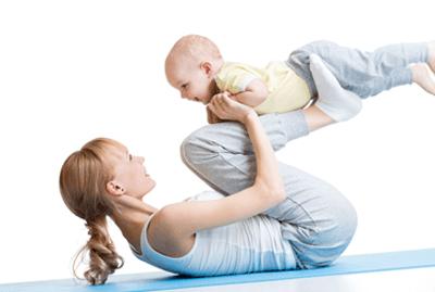 Pilates trening for mor og barn